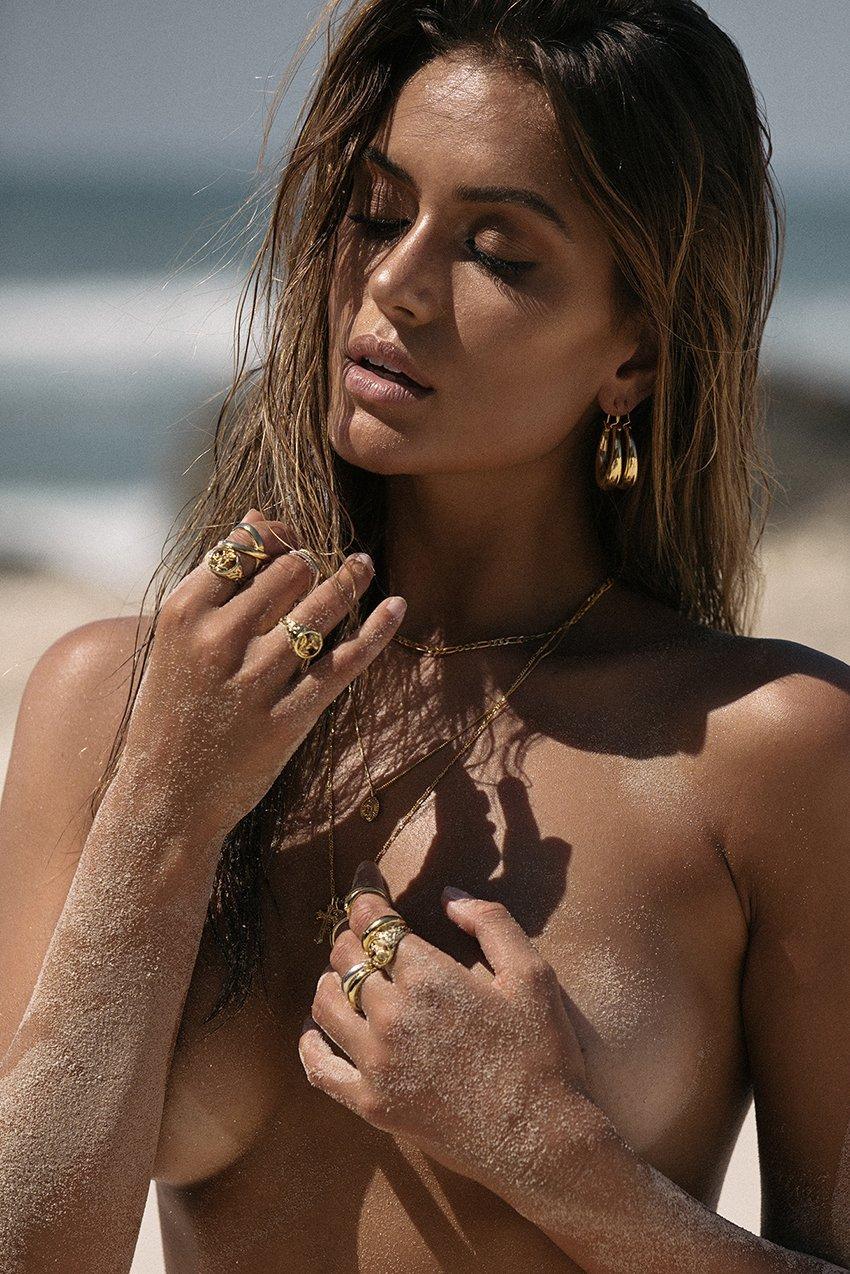 LOVE AJ SABO LUXE ROSETTE SIGNET RING