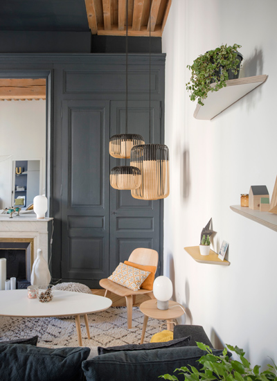 Texture e carattere in un appartamento a lione la for Travaux interieur maison