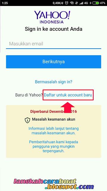 DAFTAR YAHOO - Cara Buat Email Baru Di Yahoo