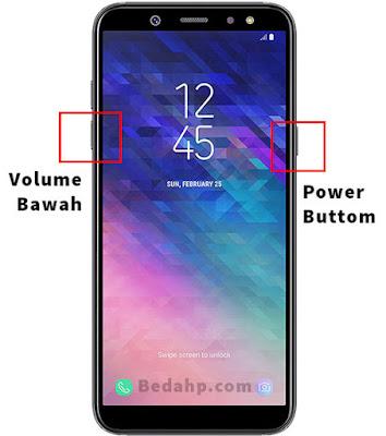 Cara Screenshot Layar Samsung A6 Plus