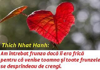 O frunză toamna | Din poezia şi înţelepciunea maestrului Zen Thich Nhat Hanh