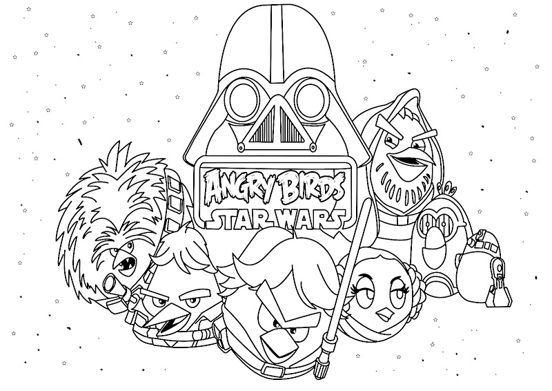 angry birds star wars coloring pages to print - angry birds coloring pages squid army