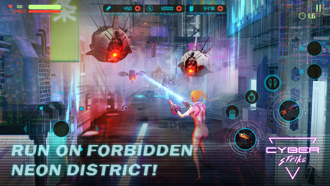 download Cyber Strike Infinite Runner MOD APK terbaru