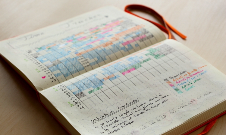 Time tracker Bullet Journal