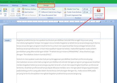 Cara Menghapus Header dan Footer di MS Word 2007+ 9