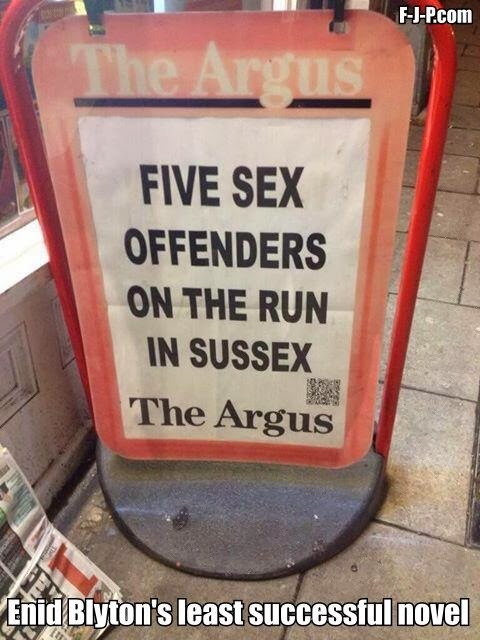 Funny Enid Blyton's Least Successful Novel Joke Picture