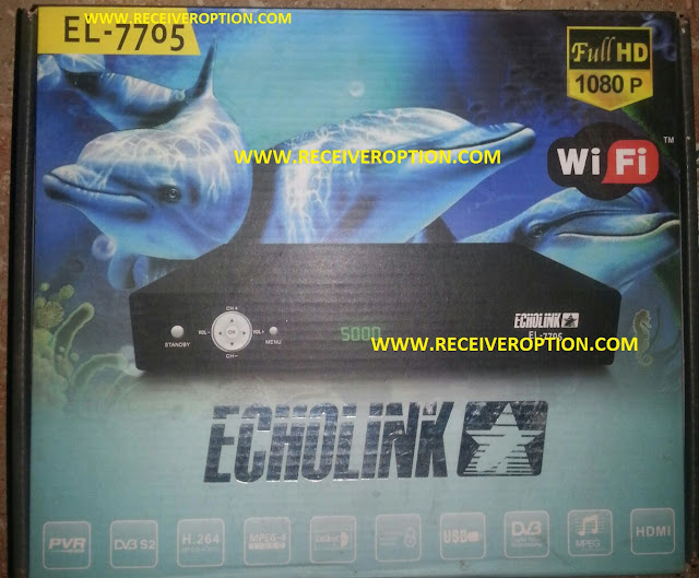 ECHOLINK EL-7705 HD RECEIVER BISS KEY OPTION