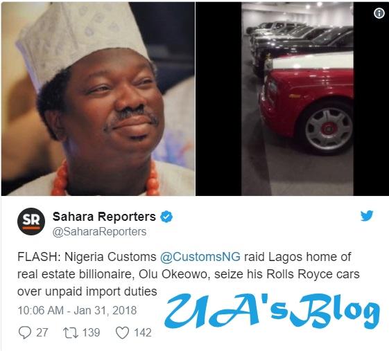 Nigerian Customs raid Ikoyi home of real estate billionaire Olu Okeowo, seize cars worth over N2b