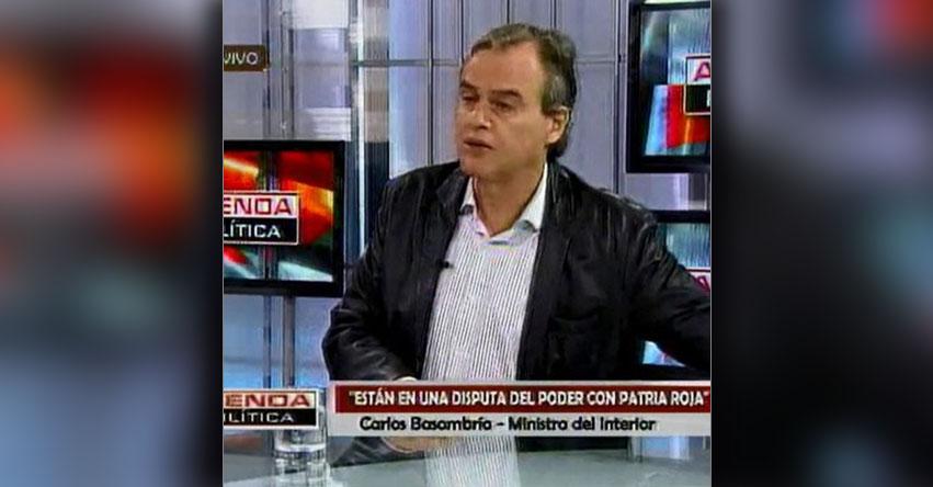 Hemos presentado denuncia contra Sutep-Conare como organización, informó el Ministro del Interior, Carlos Basombrío