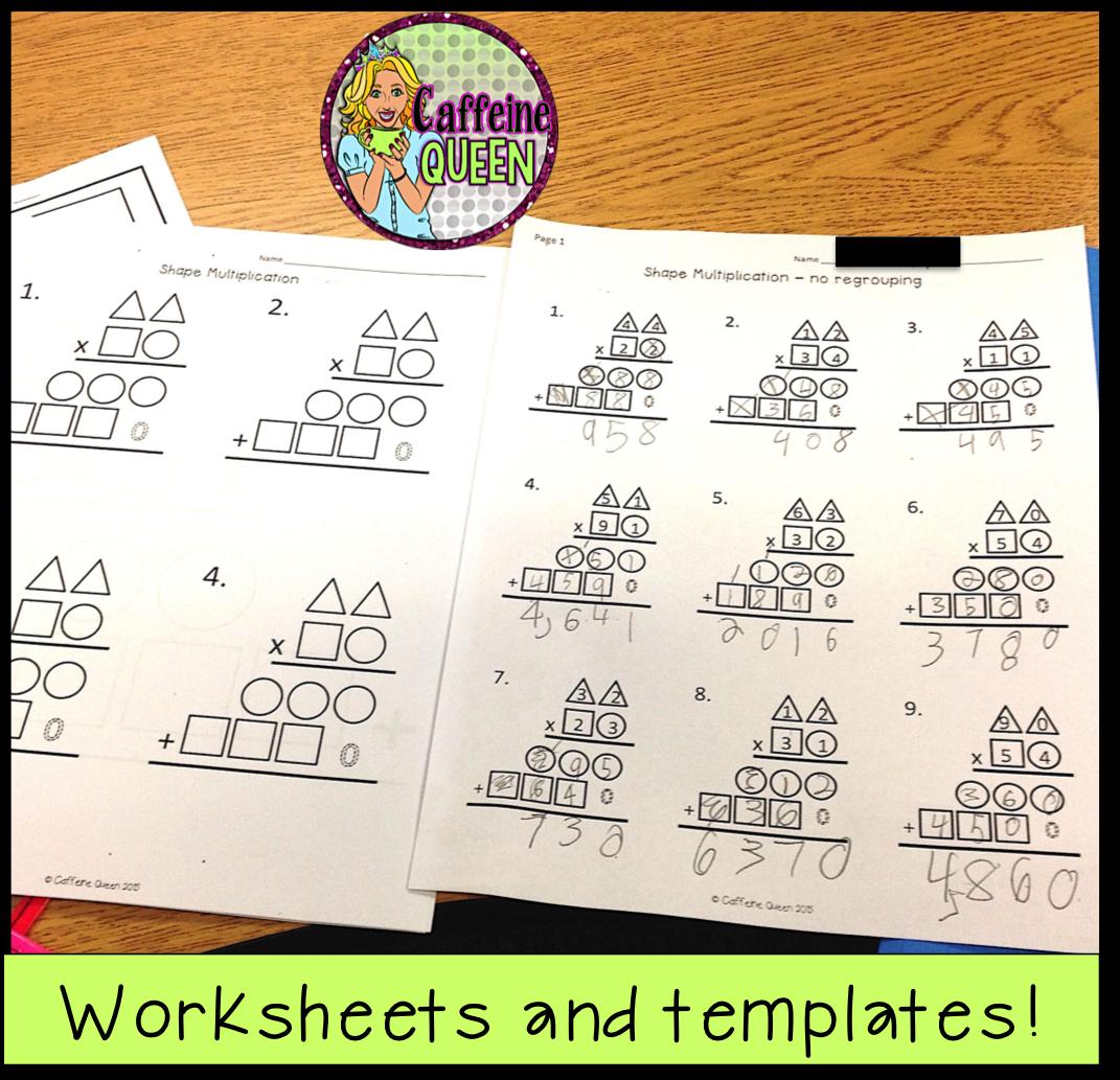 math worksheet : caffeine queen teacher blog  multiplication made easier! : Partial Product Multiplication Worksheets
