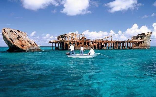 ruins, hurricane, coast, barge, boat