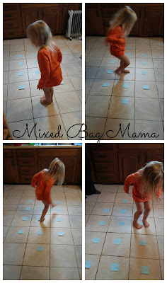 4 year old playing alphabet hop