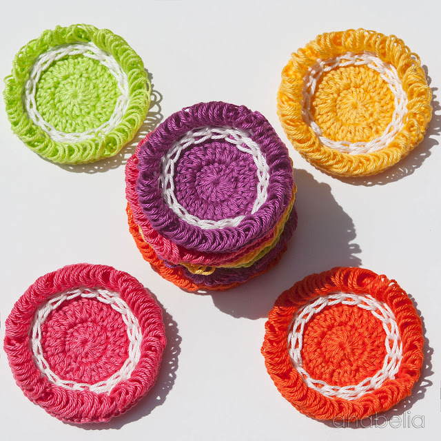 Citrus colors crochet motifs by Anabelia Craft Design