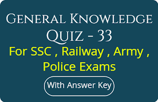 General Knowledge Quiz - 33