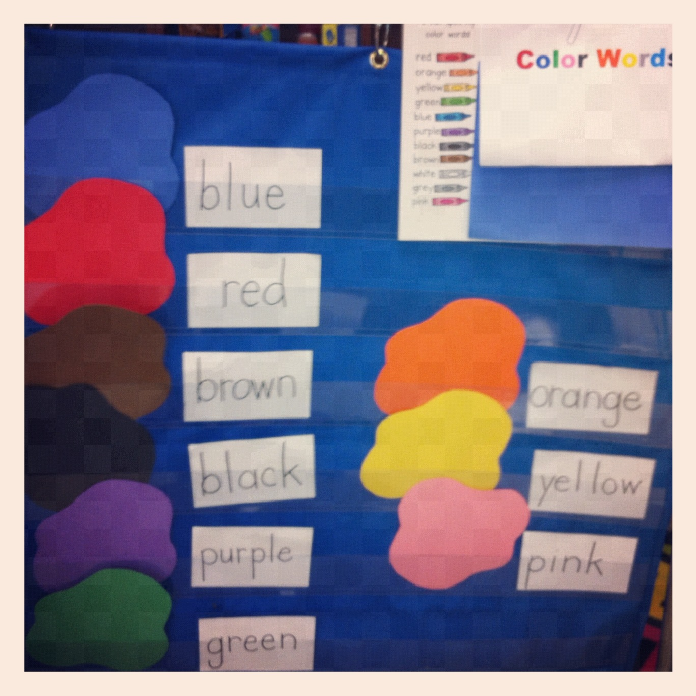 Mrs Cox S Kindergarten Class Color Words And Daily Fix It