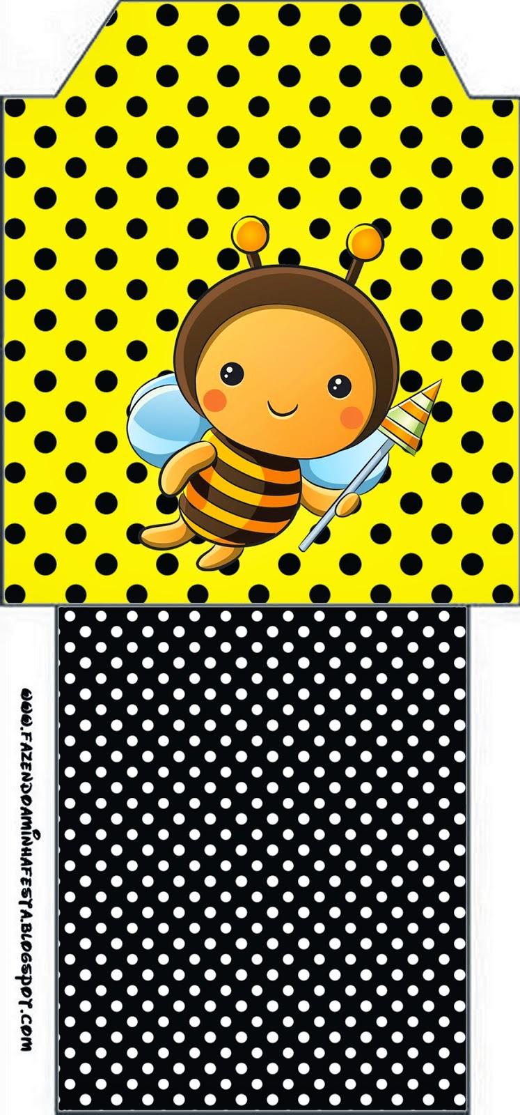 Bolsita de Té para imprimir gratis de Abejitas Bebé.