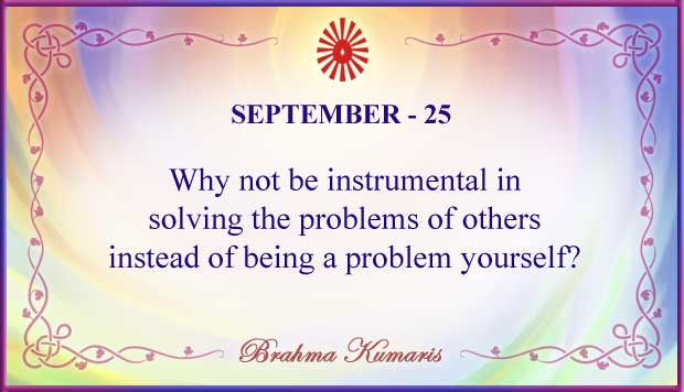 Thought For The Day September 25