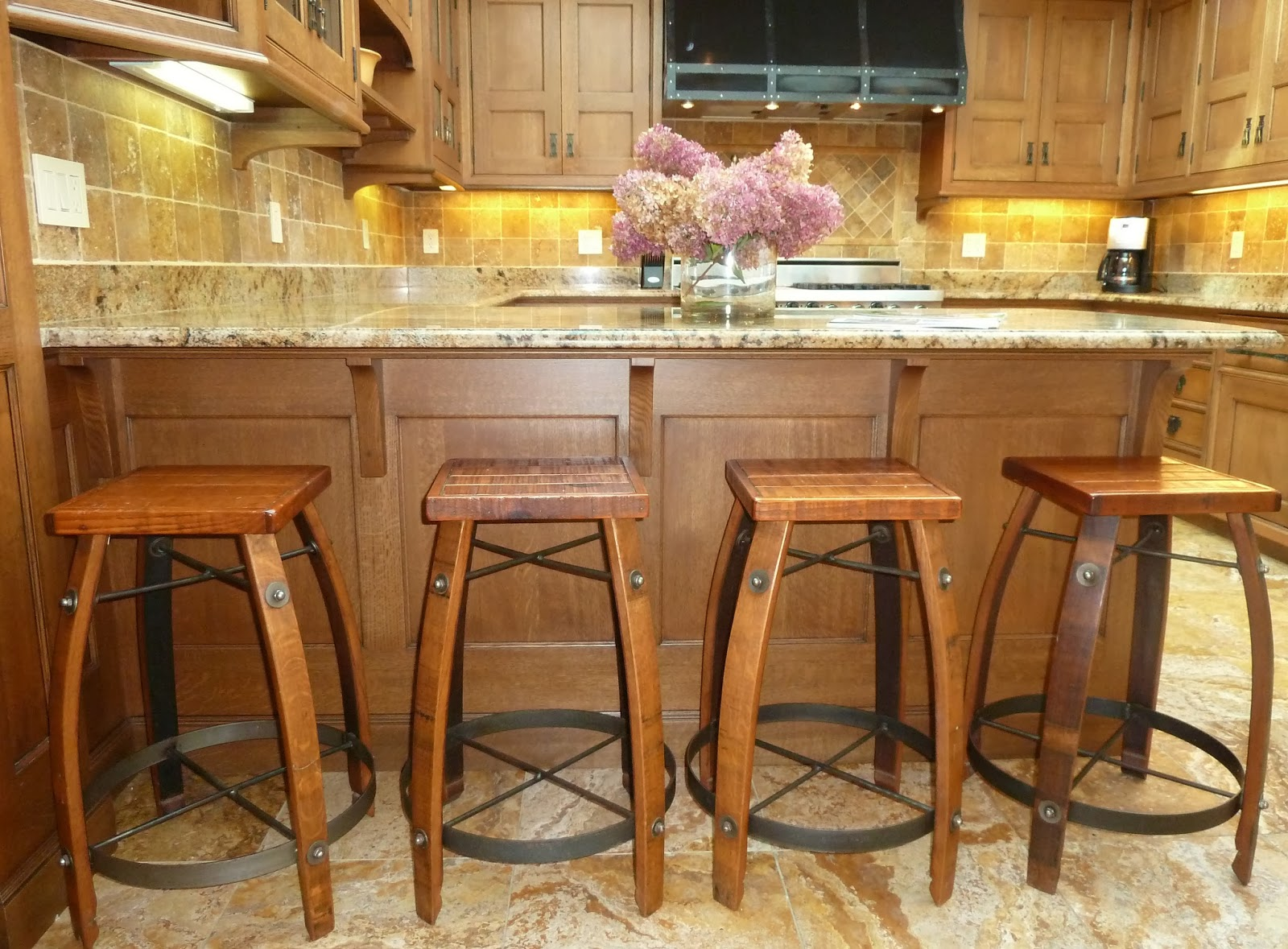 Design Vignettes Comparing kitchens  : rustickitchenislandstools from designvignettes.blogspot.com size 1600 x 1179 jpeg 366kB