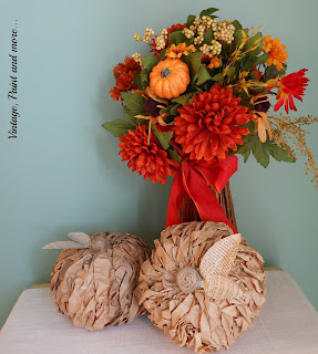 Vintage, Paint and more... rustic pumpkins made from brown paper bags and dollar store pumpkins
