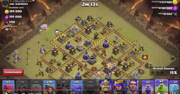 Miner, Bowler 3-star attack (Th11 Attack Strategy)