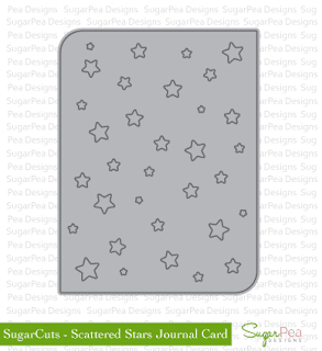 SugarCuts Scattered Stars Journal Card