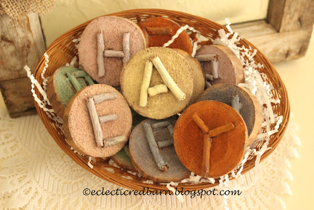 Eclectic Red Barn: Easter Wooden Letters in a Basket