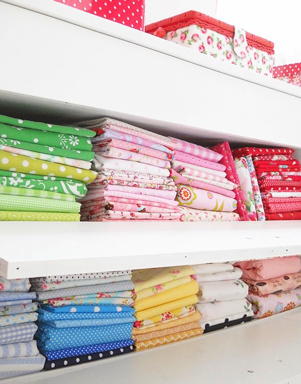 Organised fabric stash