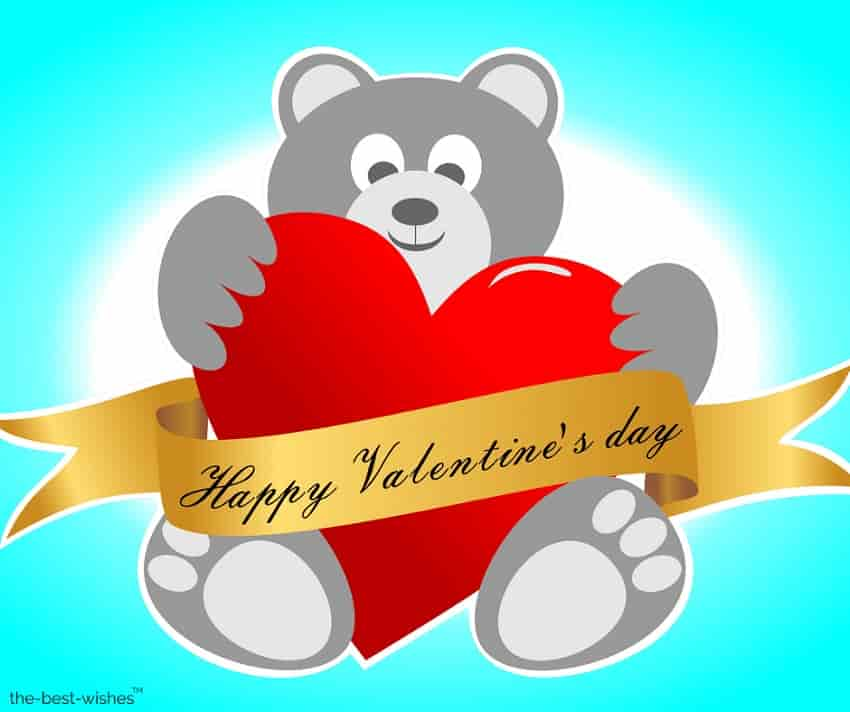 happy valentines day teddy bear image