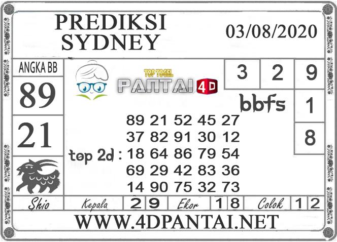 PREDIKSI TOGEL SYDNEY PANTAI4D 03 AGUSTUS 2020