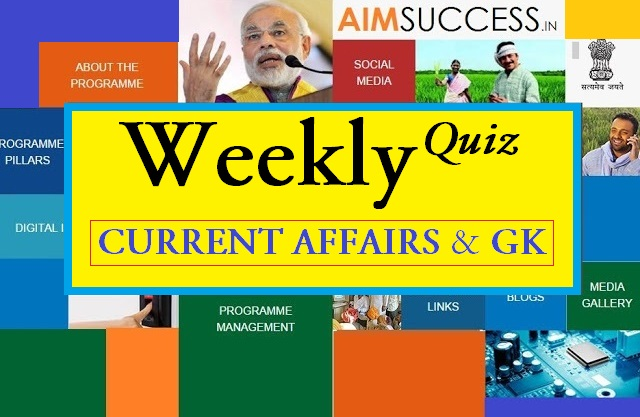 Weekly Current Affairs Quiz (04 Dec to 09 Dec) 2017