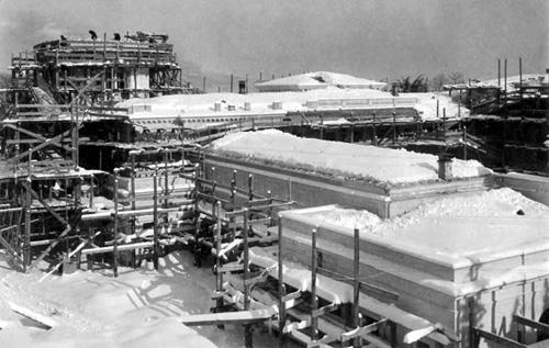 Строительство Белого ливадийского дворца, зима 1911 г.