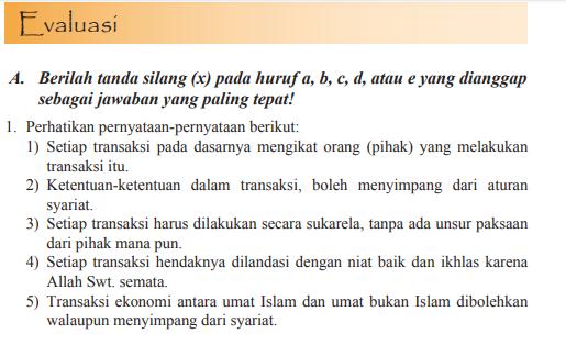 Jawaban Pg Evaluasi Bab 9 Pai Halaman 154 Kelas 11 Ekonomi Islam Bastechinfo