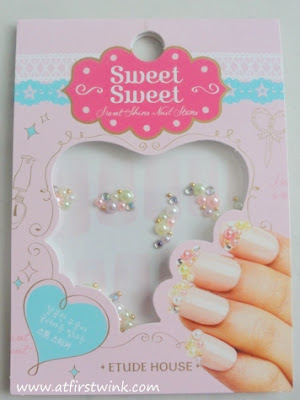 Etude House Sweet Sweet nail stone pastel pearls