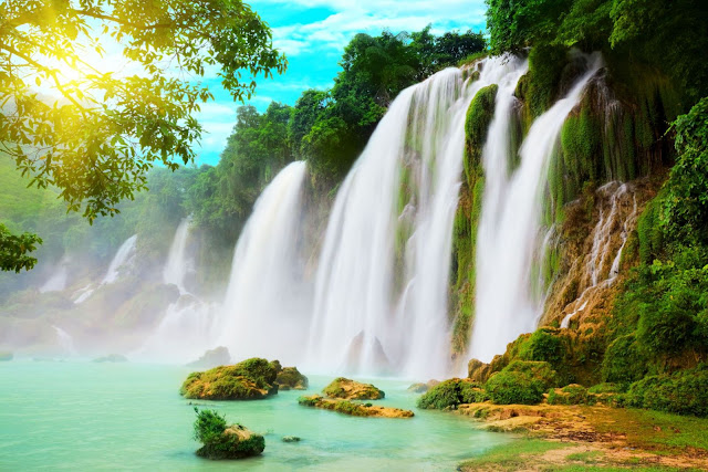 Ban Gioc Waterfall - the largest waterfall in Vietnam