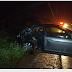 Veículo roda na pista e acaba atingido por camionete na BR-425