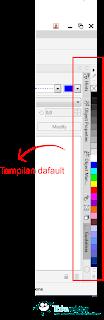 Cara Menampilkan Penuh / 3 Rows Color Palette di Coreldraw