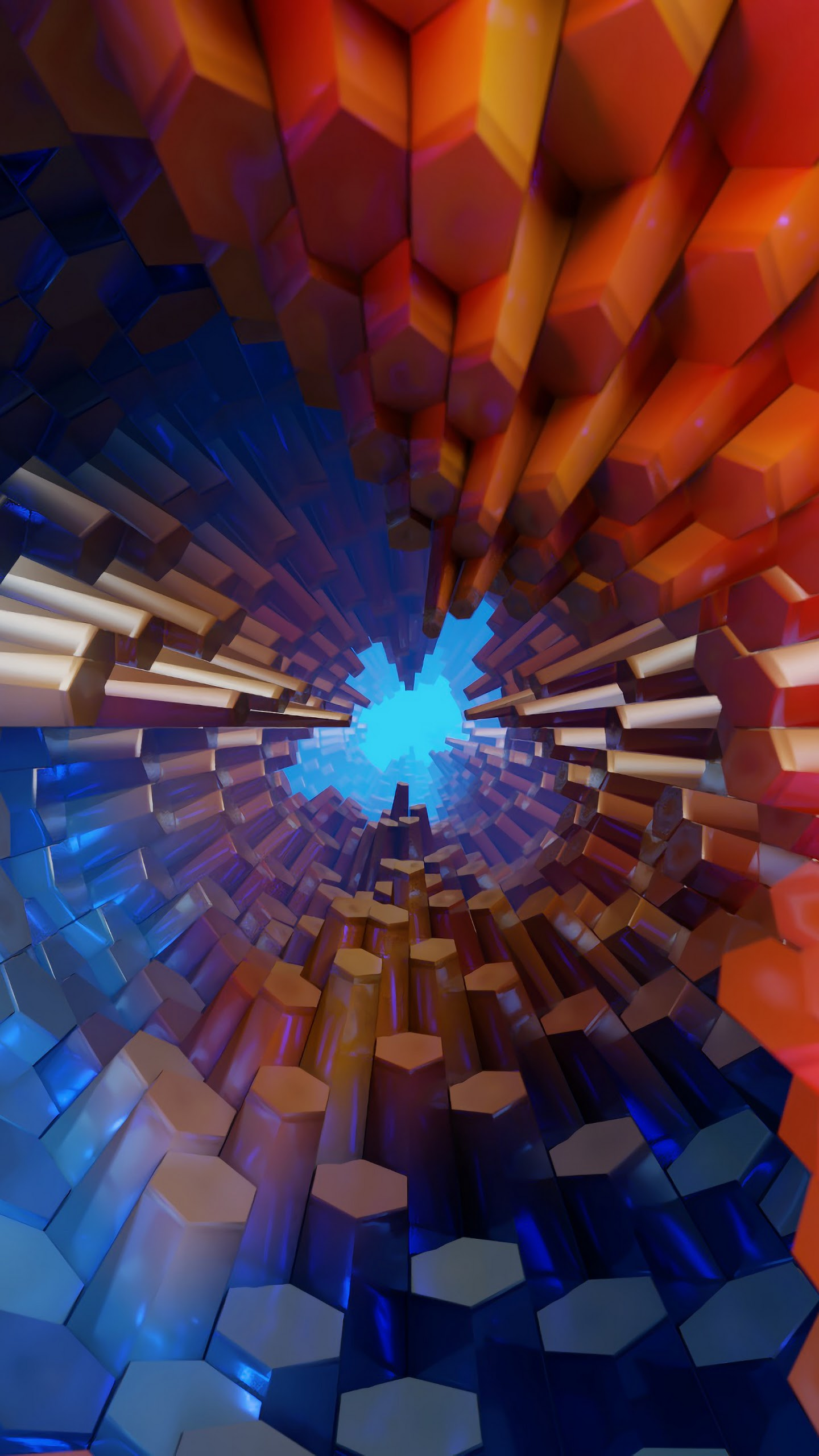 Abstract Hexagon 3d Colorful 4k Wallpaper 50