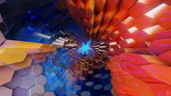 Abstract, Hexagon, 3D, Colorful, 4K, #50