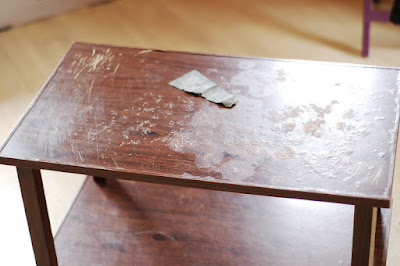 old table, diy, ideas, decor, recycle, reuse, clack paint, chuck paint, retro, vintage, style, table, furniture, furnitures