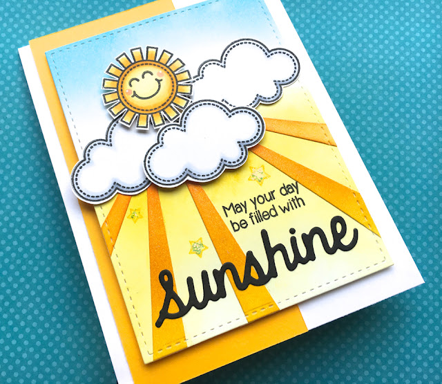 Sunny Studio Stamps: Sun Ray Dies and Sunny Sentiments Sunshine Card Duo by Lynn Put