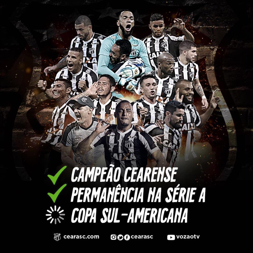 60f5c85520 Ceará fica na Série A do Brasileirão 2019 e luta por vaga na Copa ...
