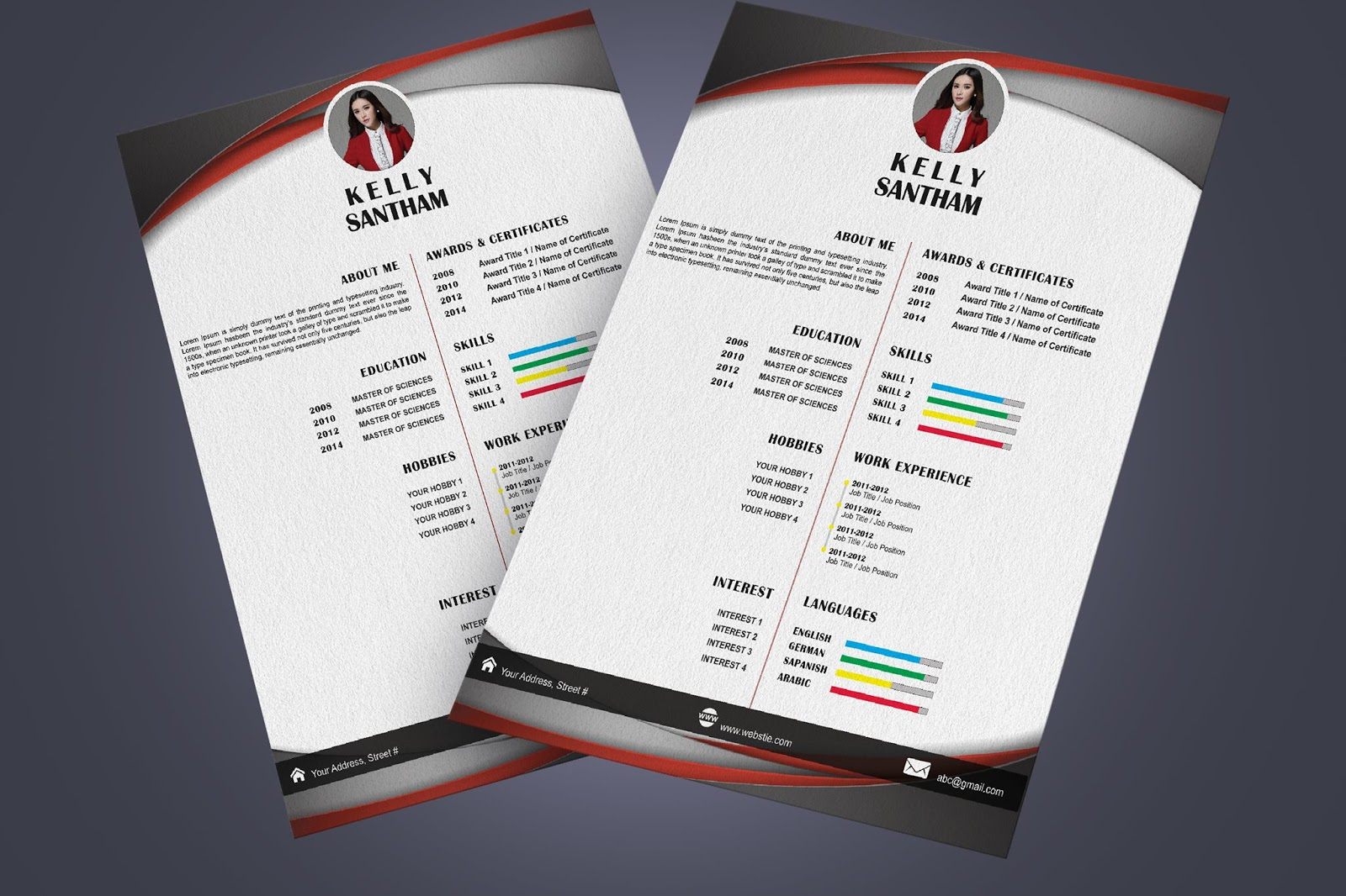 Creative Resume Free PSD | Freelance Graphic Design - Adobe Mentors