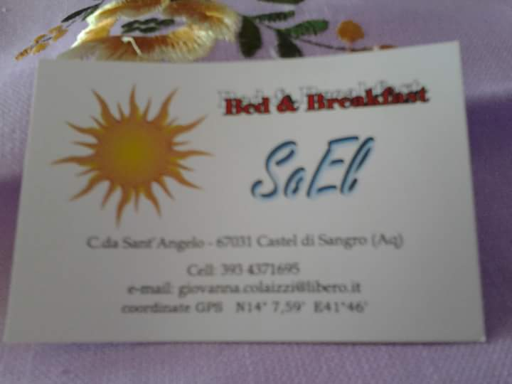 Bed & Breakfast SoEl - Via S.Angelo - Castel di Sangro, prezzi camera da 60 doppia a 120 quadrupla,