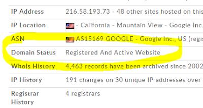 Contoh alamat domain blog yang tidak bekas pakai