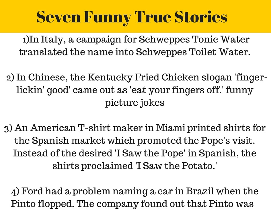 Funny Quotes On Love Stories : Everyone Funny: Seven Funny TRUE Stories