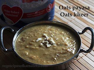 Oats payasa recipe in Kannada