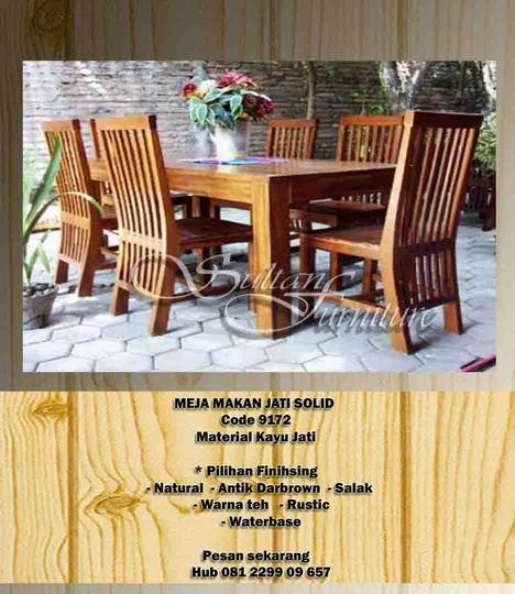 Jual Mebel Furniture Jati Kursi Meja Makan Jati Furniture