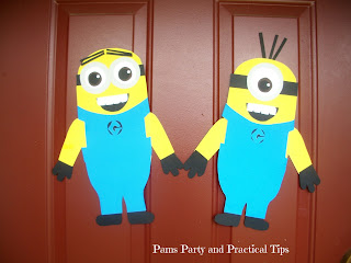 Minions made from poster board