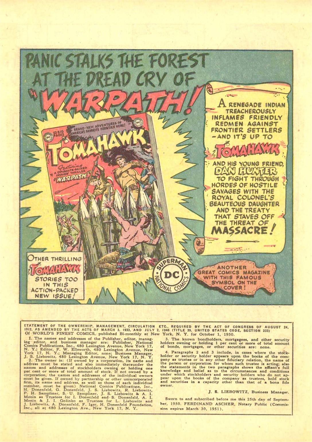 Read online World's Finest Comics comic -  Issue #50 - 38