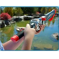 Rocket Fishing Rod lance la ligne avec l'hameçon